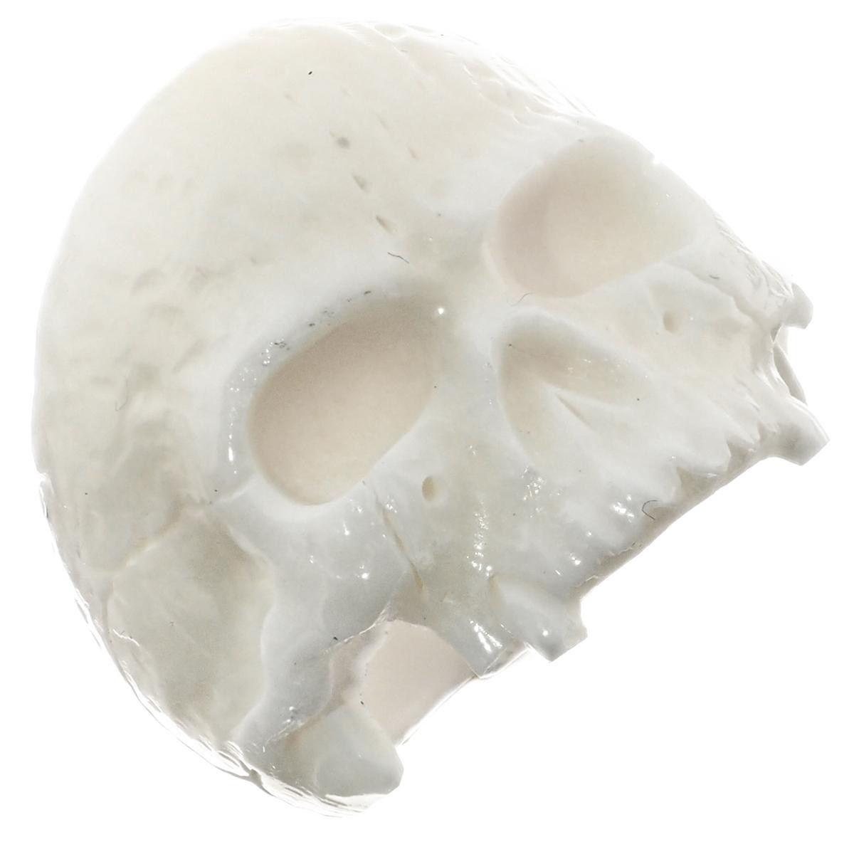 1 Large Mens Jawless Skull Bison Bone Hand Carving Ring S6580 Fifirose