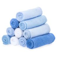 10 Pack Washcloth Set, Blue