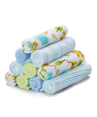 10 Pack Washcloth Set, Blue Tiger