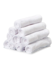 10 Pack Washcloth Set, White