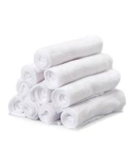 10 Pack Washcloth Set, White