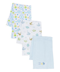 "3 Pack Burp Cloth, Blue ""Baby"""