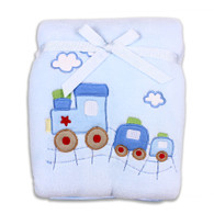 Plush Blanket, Blue Train