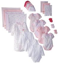 23 Piece Essential Layette Giftset, 0-6 Months, Pink