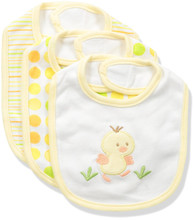3 Pack Teething Bibs, Yellow Duck