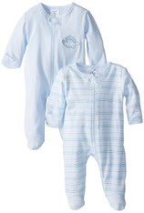 2 Pack Sleepwear Footie Set with Hat, Blue