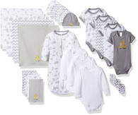 23 Piece Essential Layette Giftset, 0-6 Months, Grey