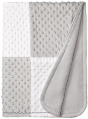 Raised Dot Blanket, Grey