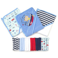 23 Piece Bath Towel Washcloth Giftset, Navy Nautical