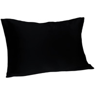 Spasilk 100% Silk Pillowcase, Standard/Queen, Black