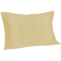 Spasilk Satin Pillowcase, Queen, Champagne