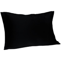 Spasilk 100% Silk Pillowcase, King Size, Black