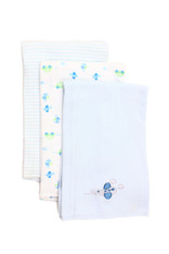 3 Pack Burp Cloth, Blue Plane