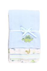3 Pack Burp Cloth, Blue Dino