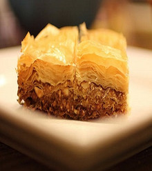 buttery and sweet with layers of phyllo dough filled with walnuts