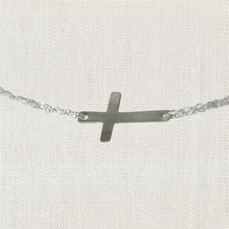 Keep The Faith Cross Necklace
