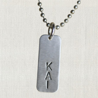 Men's Tag Necklace