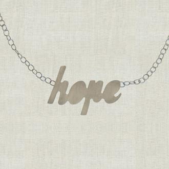 MaxLove Hope Script Floating Necklace