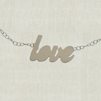 MaxLove Love Script Floating Necklace