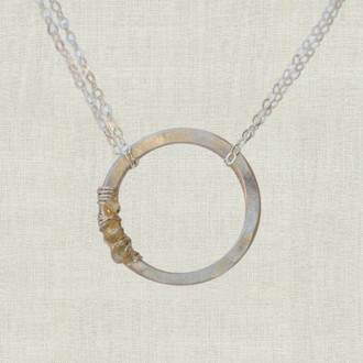 Petite Life Circle Necklace