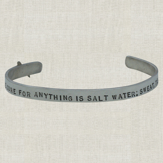 COCO The Cure For Anything Is Salt Water Cuff