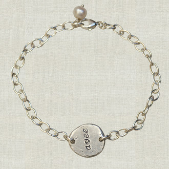 Eco Chic: Sterling Nugget Name Bracelet