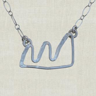 Boulder Flatirons Mountain Necklace