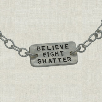 Believe Fight Shatter Bracelet