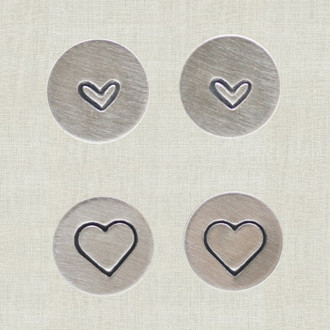 Stamped Heart Studs