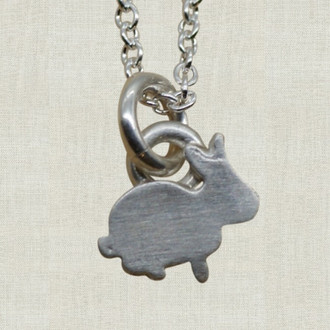 Itty Bitty Bunny Charm Necklace