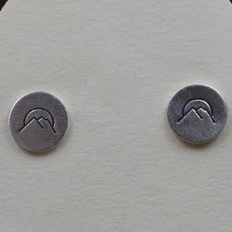 Mountain Sun Stud Earrings