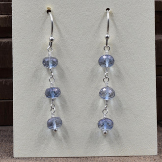 Light Blue 3 Drop Earrings