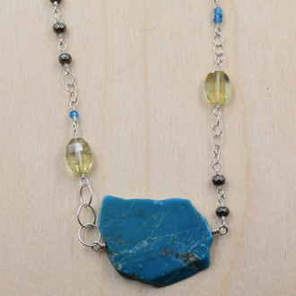 Turquoise Asymmetrical Necklace