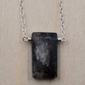 Rectangle Quartz Necklace
