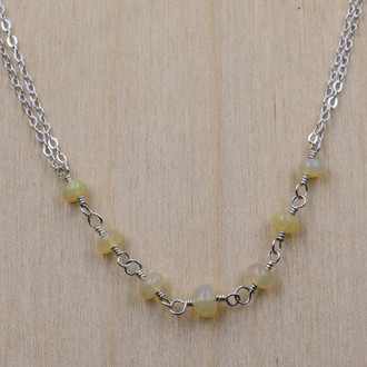 7 Stone Opal Necklace