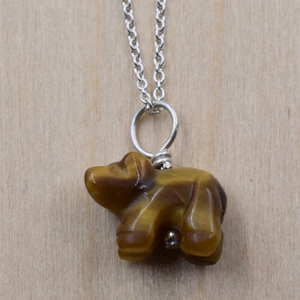 Bear Tiger's Eye Necklace