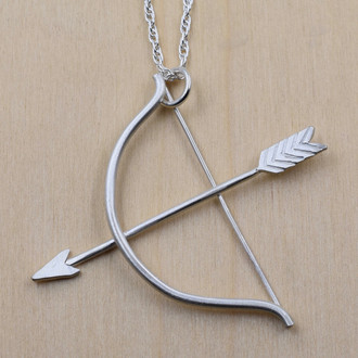 Large Bow and Arrow Necklace