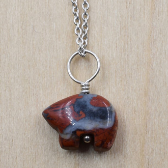 Bear Stone Necklace