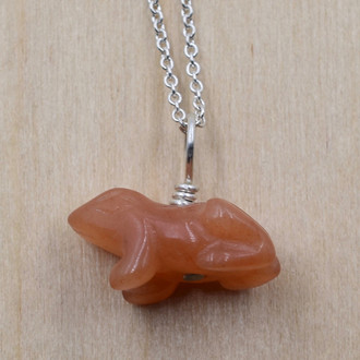 Stone Frog Necklace