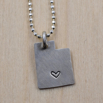 Utah Cutout Torrey Heart Necklace