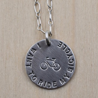 I Want To Ride My Bicycle Necklace
