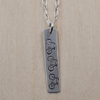 Bike Strip Necklace