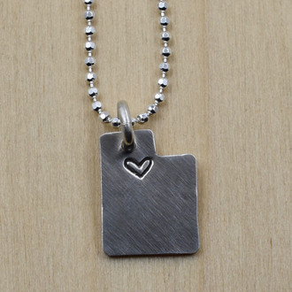 Utah Cutout SLC Love Necklace