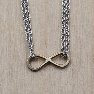 Mini Gold Fill Infinity Necklace