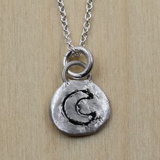 Clay Carved Moon Necklace