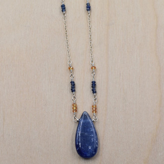 Kyanite & Sapphire Necklace