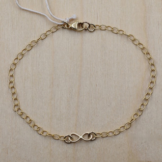 Mini Infinity Gold Fill Bracelet