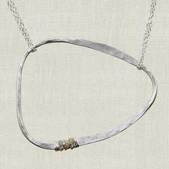 Love for Lily Abstract Life Circle Necklace