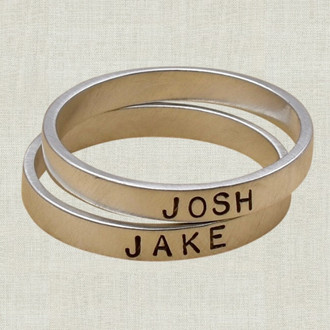 Name Stamped Ring