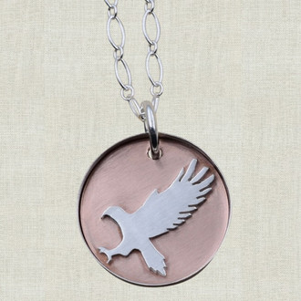 Eagle on Copper Pendant Necklace